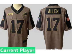 Mens Women Youth Nfl Buffalo Bills Current Player Olive Green 2021 Salute To Service Limited Jersey