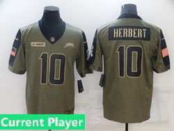 Mens Women Youth Nfl Los Angeles Chargers Current Player Olive Green 2021 Salute To Service Limited Nike Jersey