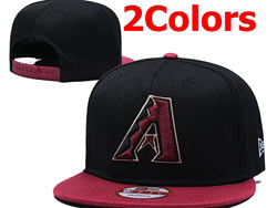 Mens Mlb Arizona Diamondbacks Falt Snapback Adjustable Hats 5 Colors