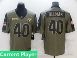 Mens Women Youth Nfl Arizona Cardinals Current Player Olive Green 2021 Salute To Service Limited Nike Jersey
