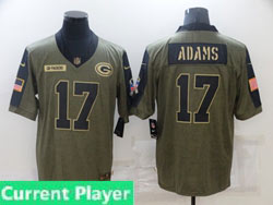 Mens Women Youth Nfl Green Bay Packers Current Player Olive Green 2021 Salute To Service Limited Nike Jersey