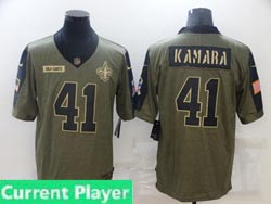 Mens Women Youth Nfl New Orleans Saints Current Player Olive Green 2021 Salute To Service Limited Nike Jersey