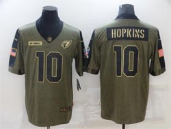 Mens Nfl Arizona Cardinals #10 Deandre Hopkins Olive Green 2021 Salute To Service Limited Nike Jersey