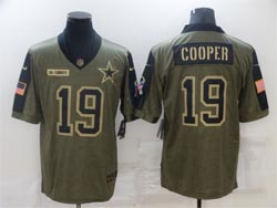 Mens Nfl Dallas Cowboys #19 Amari Cooper Olive Green 2021 Salute To Service Limited Nike Jersey