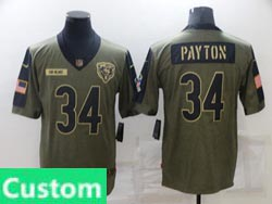 Mens Women Youth Nfl Chicago Bears Custom Made Olive Green 2021 Salute To Service Limited Nike Jersey