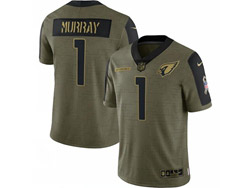 Mens Nfl Arizona Cardinals #1 Kyler Murray Olive Green 2021 Salute To Service Limited Nike Jersey