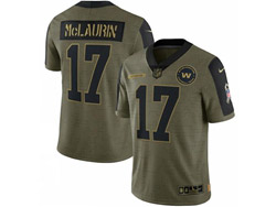 Mens Nfl Washington Football Team #17 Terry Mclaurin Olive Green 2021 Salute To Service Limited Nike Jersey