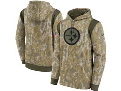 Mens Women Youth Nfl Pittsburgh Steelers Camo 2021 Salute To Service Pullover Hoodie Nike Jersey