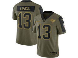 Mens Nfl Tampa Bay Buccaneers #13 Mike Evans Olive Green 2021 Salute To Service Limited Jersey