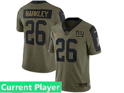 Mens Women Youth Nfl New York Giants Current Player Olive Green 2021 Salute To Service Limited Nike Jersey