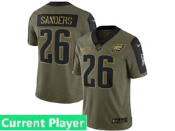 Mens Women Youth Nfl Philadelphia Eagles Current Player Olive Green 2021 Salute To Service Limited Nike Jersey