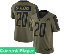 Mens Women Youth Nfl Detroit Lions Current Player Olive Green 2021 Salute To Service Limited Nike Jersey
