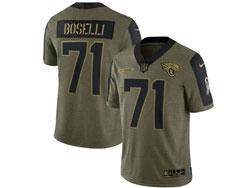 Mens Nfl Jacksonville Jaguars #71 Tony Boselli Olive Green 2021 Salute To Service Limited Nike Jersey