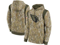 Mens Women Youth Nfl Arizona Cardinals Camo 2021 Salute To Service Pullover Hoodie Nike Jersey