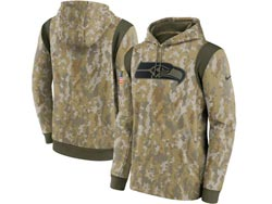 Mens Women Youth Nfl Seattle Seahawks Camo 2021 Salute To Service Pullover Hoodie Nike Jersey