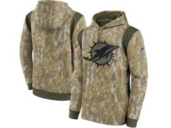 Mens Women Youth Nfl Miami Dolphins Camo 2021 Salute To Service Pullover Hoodie Nike Jersey