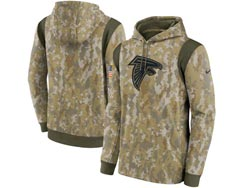 Mens Women Youth Nfl Atlanta Falcons Camo 2021 Salute To Service Pullover Hoodie Nike Jersey