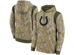 Mens Women Youth Nfl Indianapolis Colts Camo 2021 Salute To Service Pullover Hoodie Nike Jersey
