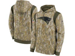 Mens Women Youth Nfl New England Patriots Camo 2021 Salute To Service Pullover Hoodie Nike Jersey