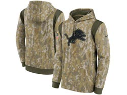Mens Women Youth Nfl Detroit Lions Camo 2021 Salute To Service Pullover Hoodie Nike Jersey