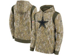 Mens Women Youth Nfl Dallas Cowboys Camo 2021 Salute To Service Pullover Hoodie Nike Jersey