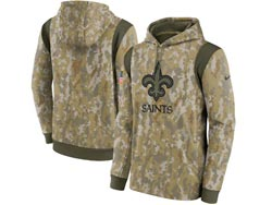 Mens Women Youth Nfl New Orleans Saints Camo 2021 Salute To Service Pullover Hoodie Nike Jersey