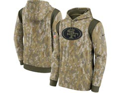 Mens Women Youth Nfl San Francisco 49ers Camo 2021 Salute To Service Pullover Hoodie Nike Jersey