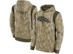 Mens Women Youth Nfl Denver Broncos Camo 2021 Salute To Service Pullover Hoodie Nike Jersey