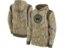 Mens Women Youth Nfl Washington Football Team Camo 2021 Salute To Service Pullover Hoodie Nike Jersey