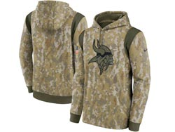 Mens Women Youth Nfl Minnesota Vikings Camo 2021 Salute To Service Pullover Hoodie Nike Jersey
