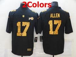 Mens Nfl Buffalo Bills #17 Josh Allen Leopard Vapor Untouchable Limited Nike Jersey 2 Colors