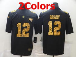 Mens Nfl Tampa Bay Buccaneers #12 Tom Brady Leopard Vapor Untouchable Limited Nike Jersey 2 Colors