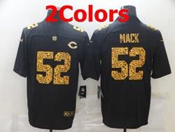 Mens Nfl Chicago Bears #52 Khalil Mack Leopard Vapor Untouchable Limited Nike Jersey 2 Colors