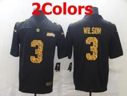 Mens Nfl Seattle Seahawks #3 Russell Wilson Leopard Vapor Untouchable Limited Nike Jersey 2 Colors