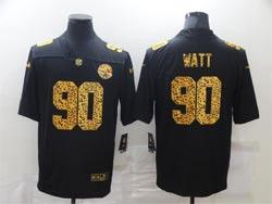 Mens Nfl Pittsburgh Steelers #90 T. J. Watt Black Leopard Vapor Untouchable Limited Nike Jersey