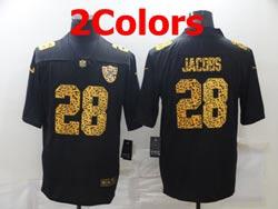 Mens Nfl Las Vegas Raiders #28 Josh Jacobs Leopard Vapor Untouchable Limited Nike Jersey 2 Colors