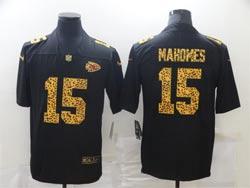 Mens Nfl Kansas City Chiefs #15 Patrick Mahomes Black Leopard Vapor Untouchable Limited Nike Jersey