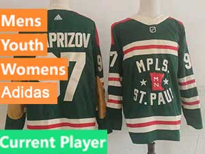 Mens Nhl Minnesota Wild Current Player Green 2022 Winter Classic Authentic Player Adidas Jersey