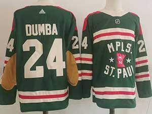 Mens Nhl Minnesota Wild #24 Matt Dumba Green 2022 Winter Classic Authentic Player Adidas Jersey
