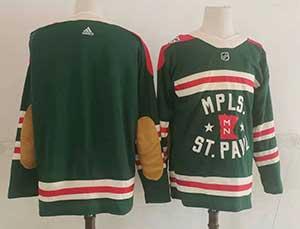 Mens Nhl Minnesota Wild Blank Green 2022 Winter Classic Authentic Player Adidas Jersey