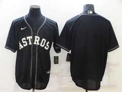 Mens Mlb Houston Astros Blank Black Cool Base Nike Jersey
