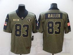 Mens Nfl Las Vegas Raiders #83 Darren Waller Olive Green 2021 Salute To Service Limited Nike Jersey