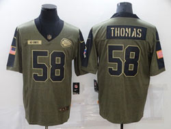 Mens Nfl Kansas City Chiefs #58 Derrick Thomas Olive Green 2021 Salute To Service Limited Nike Jersey
