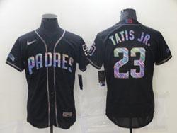 Mens Mlb San Diego Padres #23 Fernando Tatis Jr. Black Colorful Edition Flex Base Nike Jersey