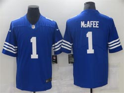 Mens Nfl Indianapolis Colts #1 Pat Mcafee 2021 New Blue Vapor Untouchable Limited Nike Jersey