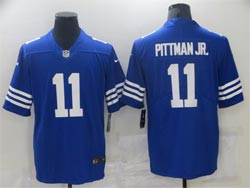 Mens Nfl Indianapolis Colts #11 Michael Pittman Jr. 2021 New Blue Vapor Untouchable Limited Nike Jersey