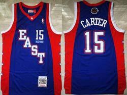 Mens Nba All Star Toronto Raptors #15 Vince Carter Blue Mitchell&ness Hardwood Classics Swingman Jersey