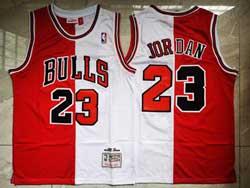 Mens Nba Chicago Bulls #23 Michael Jordan Red&white Mitchell&ness Hardwood Classics Limited Jersey