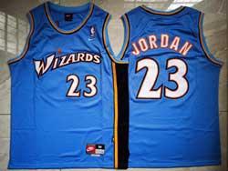 Mens Nba Washington Wizards #23 Michael Jordan Blue Nike Swingman Jersey