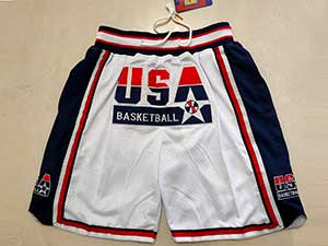 Nba Usa Dream Team  White Usa One Pocket Shorts